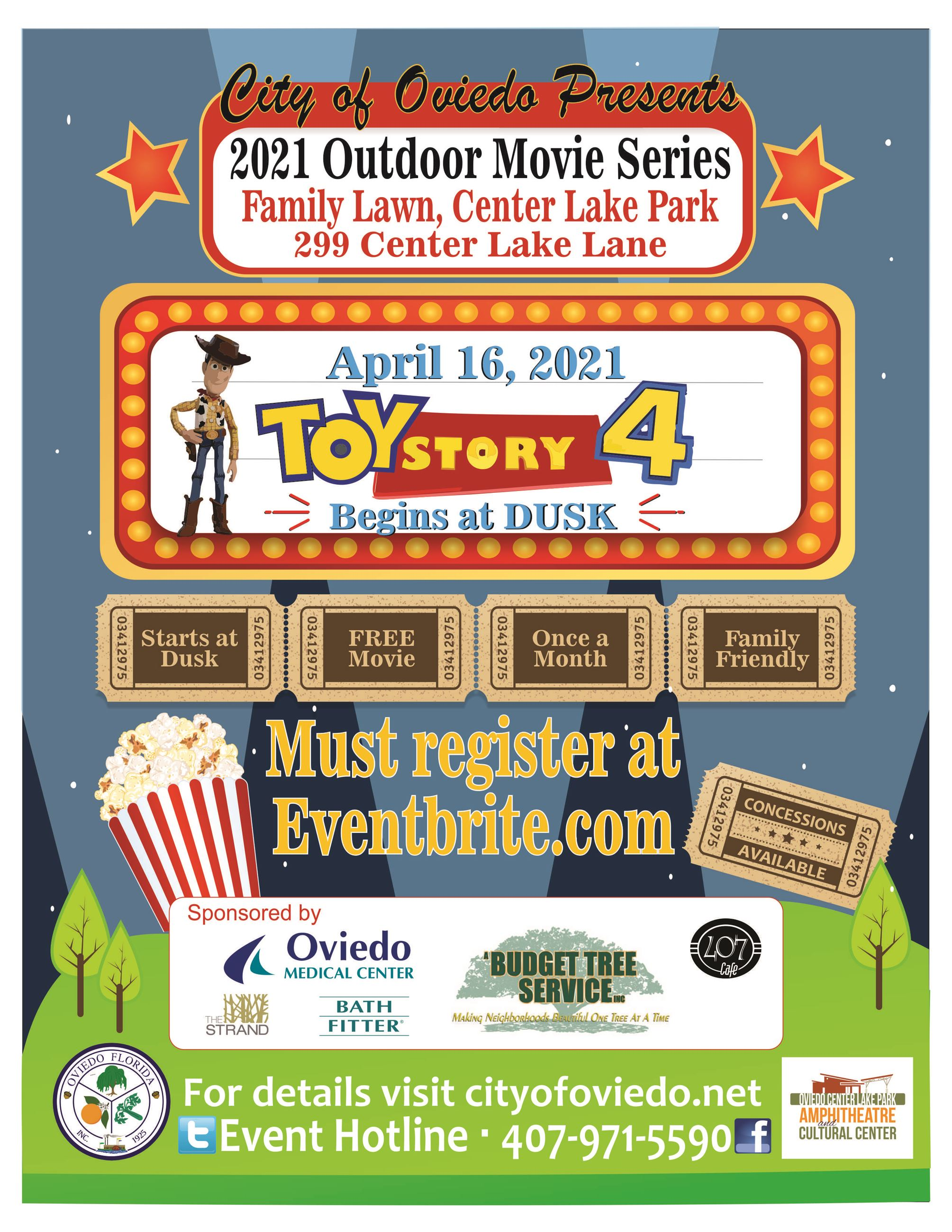 Toy Story 4_ 4-16-21_Movie On the Park FLYER