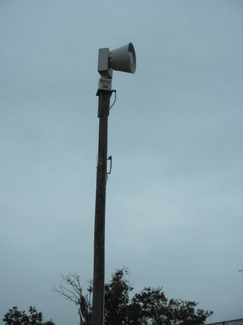 Tornado Siren on Tall Pole